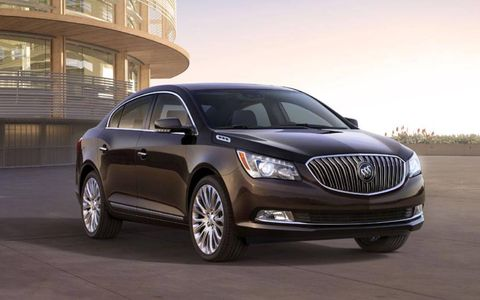 A bigger grille adorns the hood of the 2014 Buick LaCrosse.