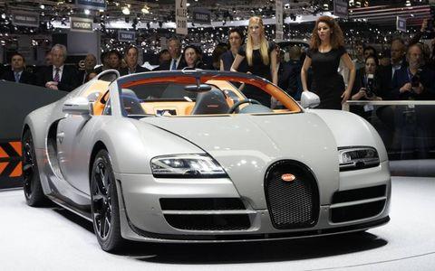 The Bugatti Veyron 16.4 Grand Sport Vitesse raises output to 1,200 hp.