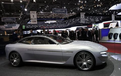 The Pininfarina Cambiano has a plug-in-electric propulsion system.