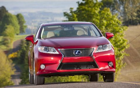 Although driveability and power flow feel seamless, the 2013 Lexus ES 300h needs a less-aggressive braking feel.