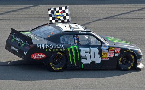 Kyle Busch took the checkered flag for the third time this season.