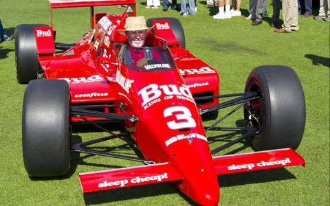 Pat Ryan, driving his March-Cosworth that Bobby Rahal drove to win the 1986 Indy 500.