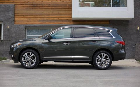 The new 2013 Infiniti JX35 crossover seats seven.
