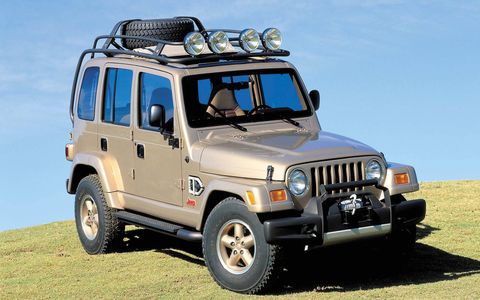Dakar (1997): The first hint of what adding two doors to the Wrangler would do for the popularity of one of Jeep's most historic designs.