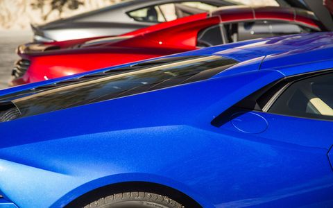 Three excellent choices should you need to consider a supercar: the Aston Martin DB9 GT, Lamborghini Huracan AWD and McLaren 650S.