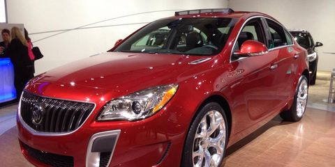 The 2014 Buick Regal at the New York auto show.