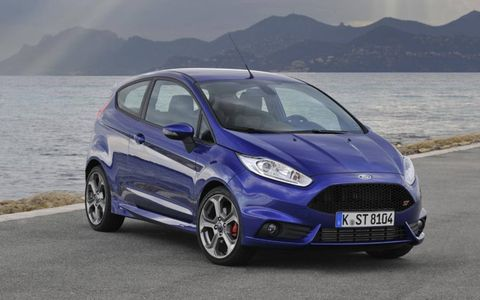 The 2014 Ford Fiesta ST is a step up from the stock Fiesta in terms or power and overall handling.