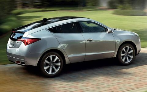The 2013 Acura ZDX is powered by a 3.7-liter V6 engine mated to a six-speed automatic transmission.