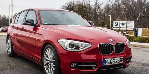 This Euro-only 1-Series sports BMW's prototype 3-cylinder engine.