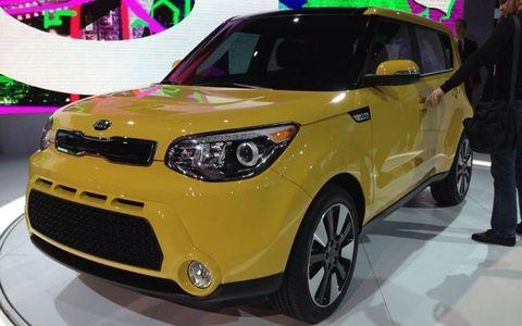 The 2014 Kia Soul at the New York auto show.