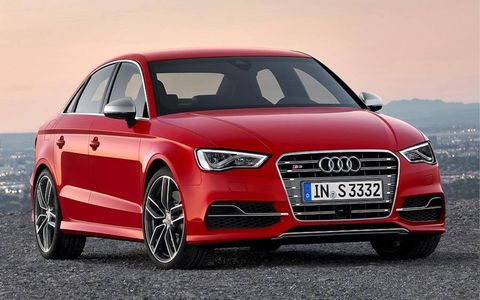The Audi S3 sedan is expected to land in U.S. showrooms in early 2014.