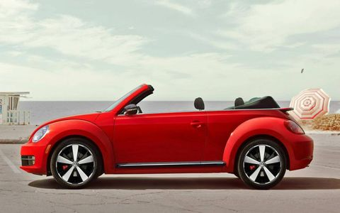 With the turbo engine, the 2013 Volkswagen Beetle Turbo convertible is surprisingly sporty.