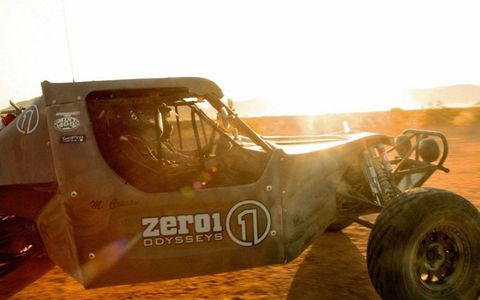 Action from the Mint 400 off-road race at Las Vegas.