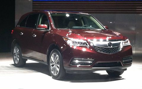 The production version of the 2014 Acura MDX as it was revealed at the New York auto show.