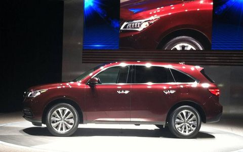 The 2014 Acura MDX at the New York auto show.