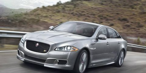 The 2014 Jaguar XJR will be the highest performance XJ sedan, sporting a 5.0-liter supercharged V8 engine that delivers 550 hp and 502 lb-ft of torque.