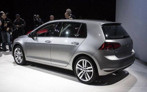 The 2015 VW Golf, with pensive designer Walter de Silvia.