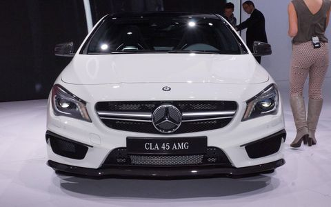 The 2014 Mercedes Benz CLA45 AMG at the New York auto show.