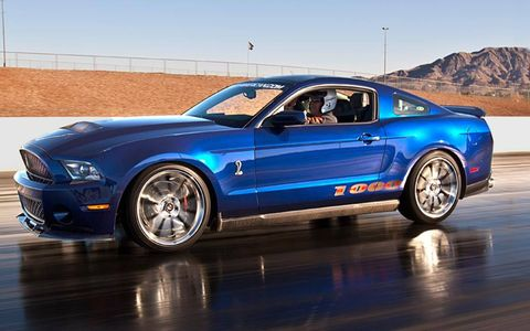 The Shelby 1000 comes in a 950-hp street version and a 1,100-hp track version.