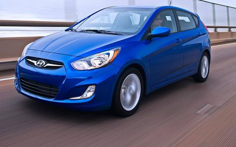 A front view of the 2012 Hyundai Accent.