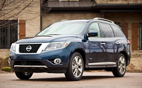 Nissan revealed a new hybrid variant of the seven-passenger Pathfinder at the New York auto show.