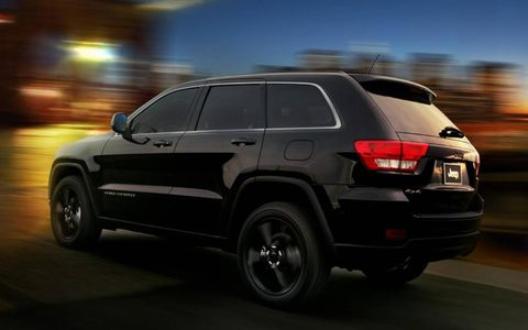 The Grand Cherokee Altitude gets 20-inch black gloss wheels.