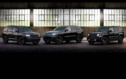 The Altitude versions of the Jeep Compass, Grand Cherokee and Patriot.