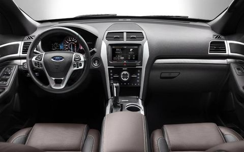 The interior of the 2013 Ford Explorer Sport is functional and comfortable.