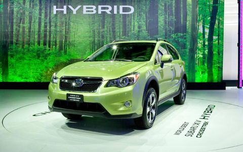 The XV Crosstrek Hybrid is Subaru's first production hybrid.