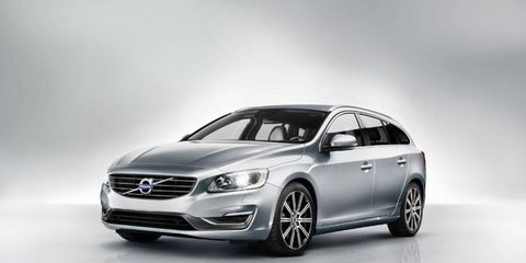 The V60 shares its architecture and front-end styling with the S60 sedan.