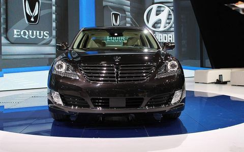 A refreshed face for the 2014 Hyundai Equus at the New York auto show.