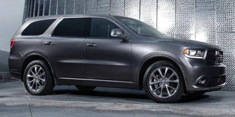 The restyled 2014 Dodge Durango goes on sale this fall.