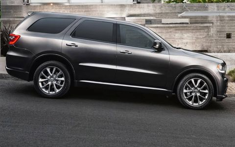 A side view of the restyled 2014 Dodge Durango.