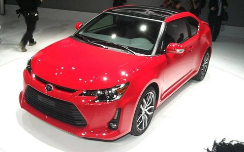 The 2014 Scion tC made its debut Thursday at the New York auto show.