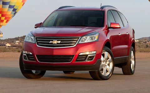 The 2013 Chevrolet Traverse sports a new grille design.