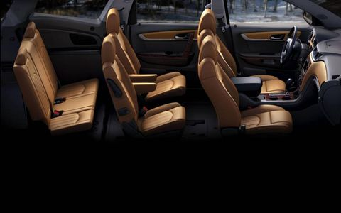 More soft-touch materials have been added to the interior of the 2013 Chevrolet Traverse.