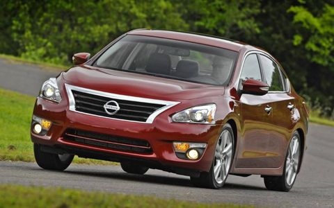 The exterior highlights include a more stylish grille for the 2013 Nissan Altima sedan.