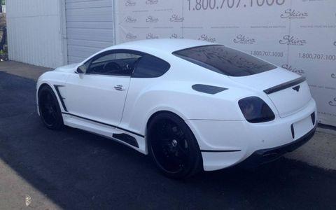 Bentley Continental in Storm Trooper White vinyl.