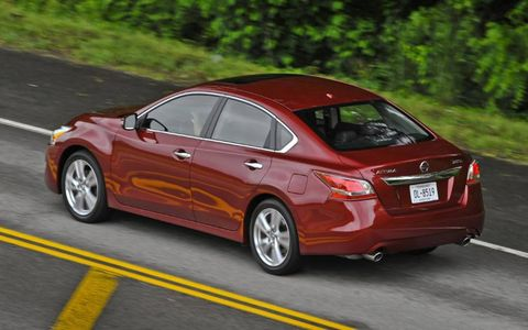 Adjusting to the continuously variable transmission in the 2013 Nissan Altima sedan was easily overcome.
