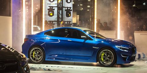 This is what Subaru suggests that the new WRX will look like. We certainly hope so.
