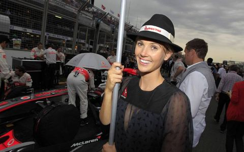 How can you tell where your favorite driver is lined up to start a Formula One race? Just check the signs held by the grid girls. Here's a look at some of the helpful hostesses from the Australian Grand Prix.
