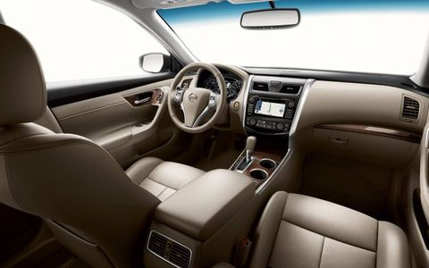 The dashboard of the 2013 Nissan Altima.
