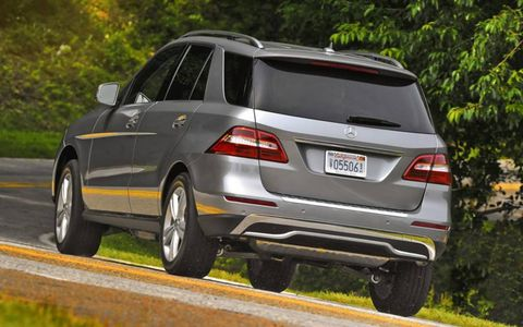 The available diesel engine in the 2013 Mercedes-Benz ML350 4Matic is a more practical choice in terms of fuel economy.