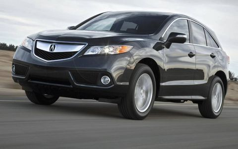 A front view of the 2013 Acura RDX.