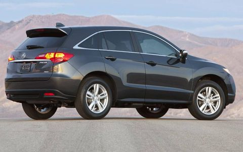 A side view of the Acura RDX.