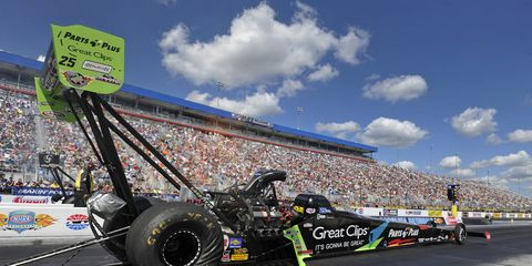 Clay Millican claimed the top spot in qualifying at zMax Raceway on Saturday.