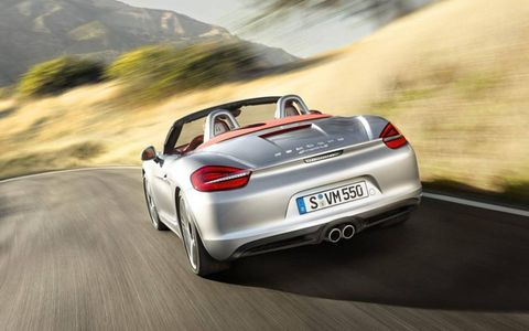 The 2013 Porsche Boxster S is equipped with a 3.4-liter H6 mated with a seven-speed dual-clutch sequential manual.