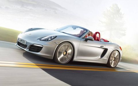 Our 2013 Porsche Boxster S arrived with a set of optional 20-inch Carrera Classic wheels.