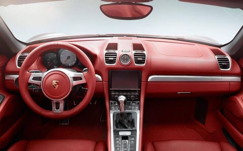 Interior options included in the 2013 Porsche Boxster S are a Bose surround-sound system, HD radio receiver and much more.