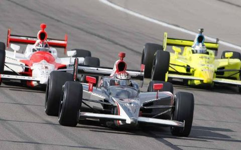 A. J. Foyt IV leads Helio Castroneves and Ed Carpenter